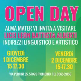Open Day Licei Alberti Linguistico e Artistico Dicembre 2016