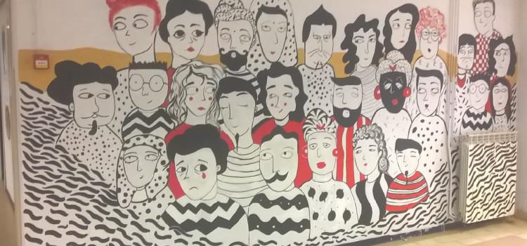 Insieme sulla strada dell'arte – Cinque murales alla Scuola Media Guardi realizzati dagli studenti del Liceo Artistico Alberti